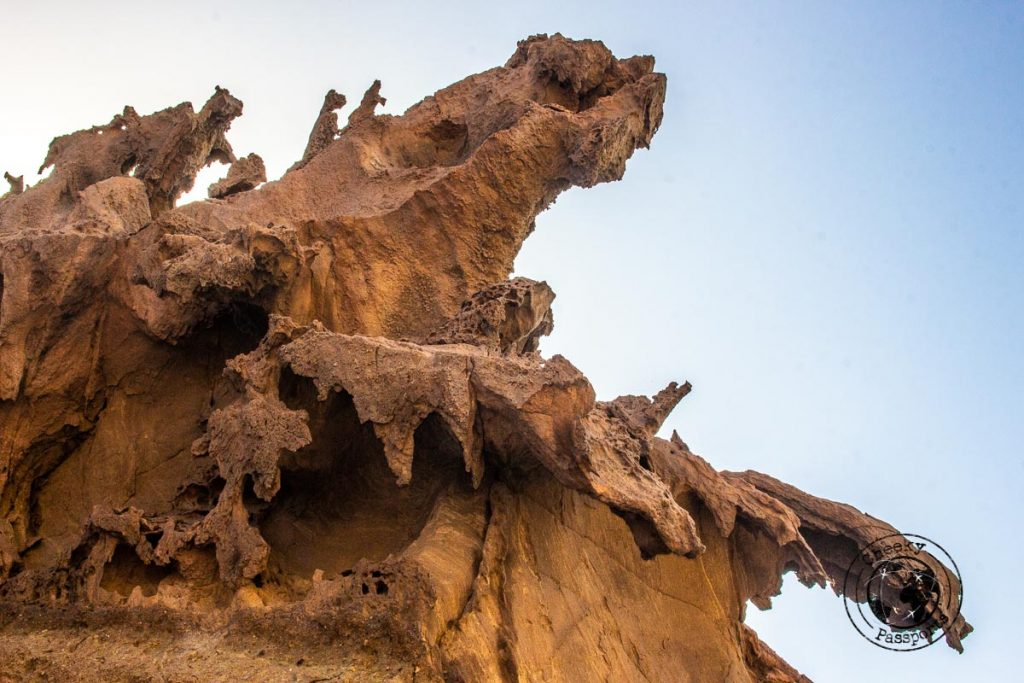 Dragon formation at the valley of the statues in Iran