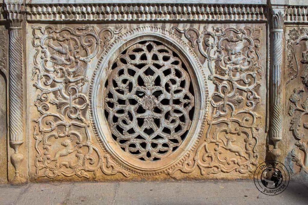 Fine detail of the furnishings of the historical house of Naranjestan Qavam in Shiraz