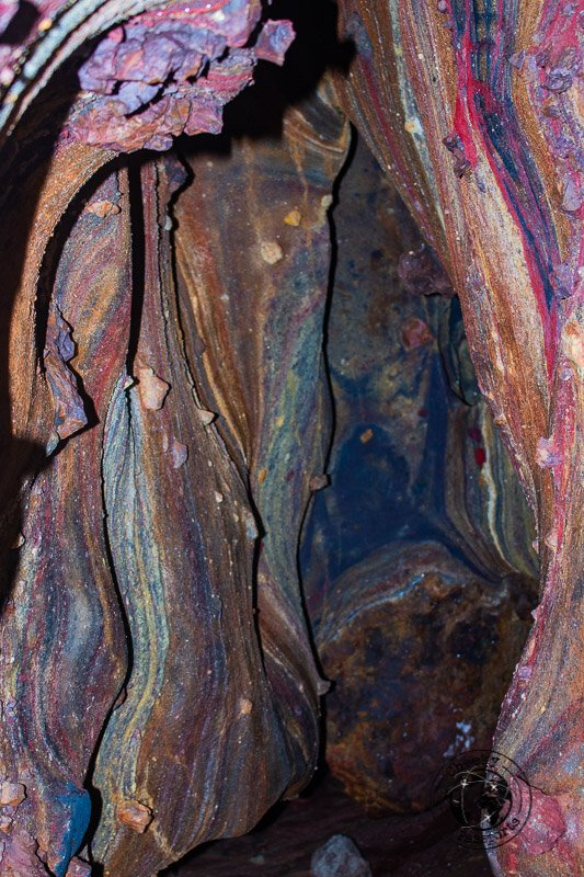 Formations inside the rainbow cave during our Hormuz island travel
