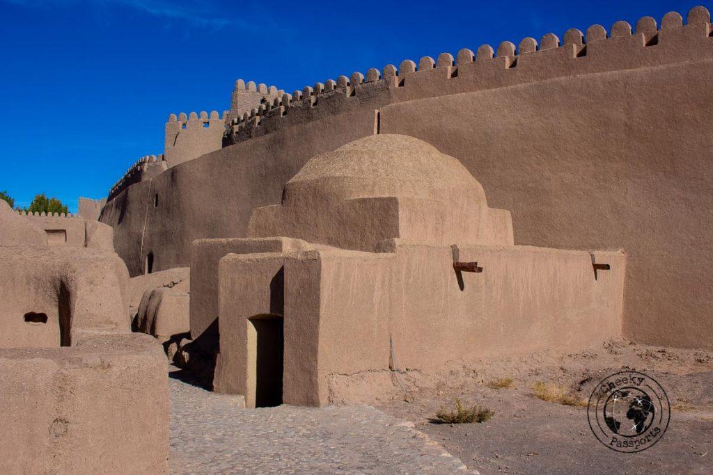 Inside Rayen Castle in Kerman