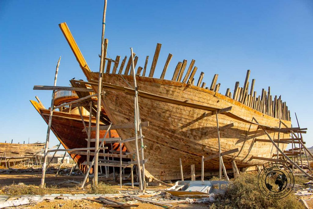 Lenji Qeshmi ship building dock in Iran during our qeshm travel