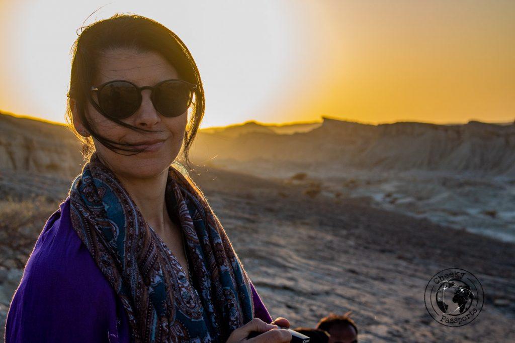 Michelle at sunset
