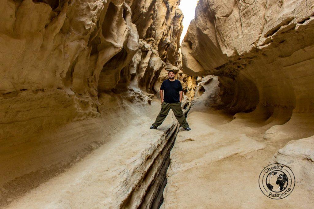 Nikki at the Chahkooh Canyon in Qeshm island on your Iran Itinerary