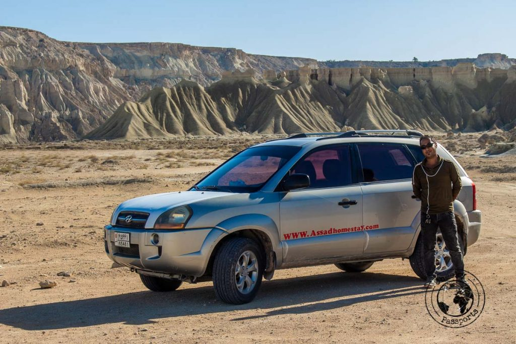 Our transport and guide provided by Assad Homestay in Qeshm Island