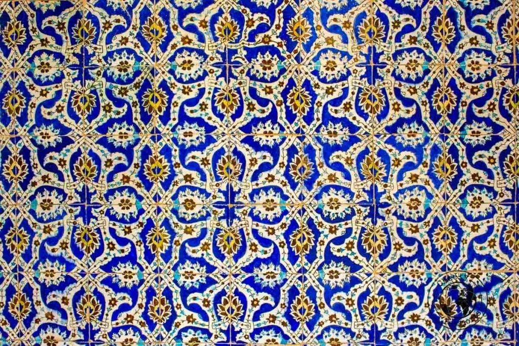 Patterned tiles of Kerman in Iran