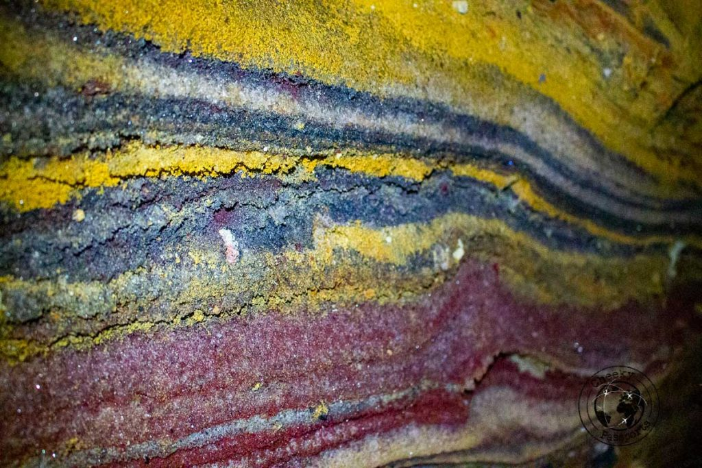 Rainbow Cave formations in Hormuz