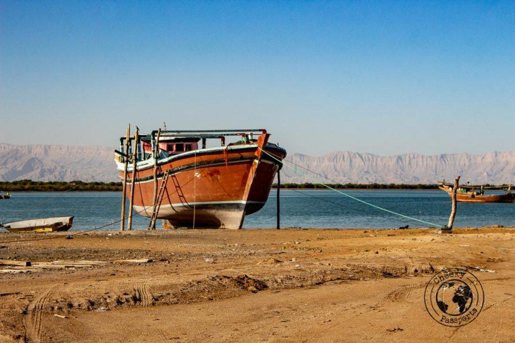 Sea dock in Qeshm, Iran