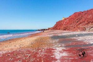 The Red Beach of Hormuz Iran