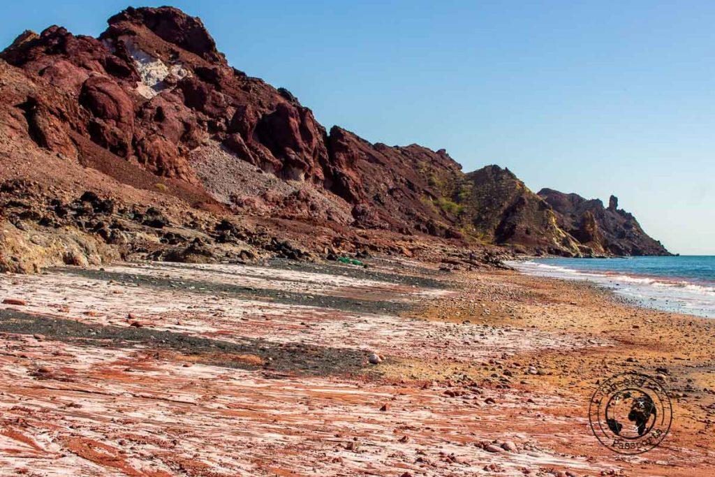 The Red Beach of Hormuz Island Iran