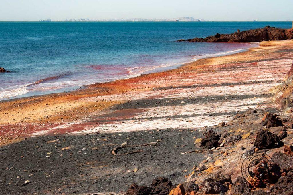 The Red Beach of Iran Hormuz Island