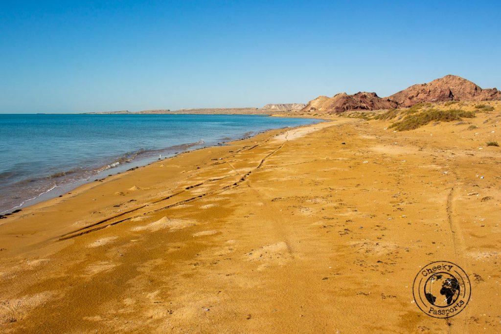 The coastline of Qeshm