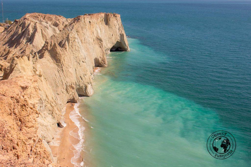 Turtle beach in Hormuz island Iran