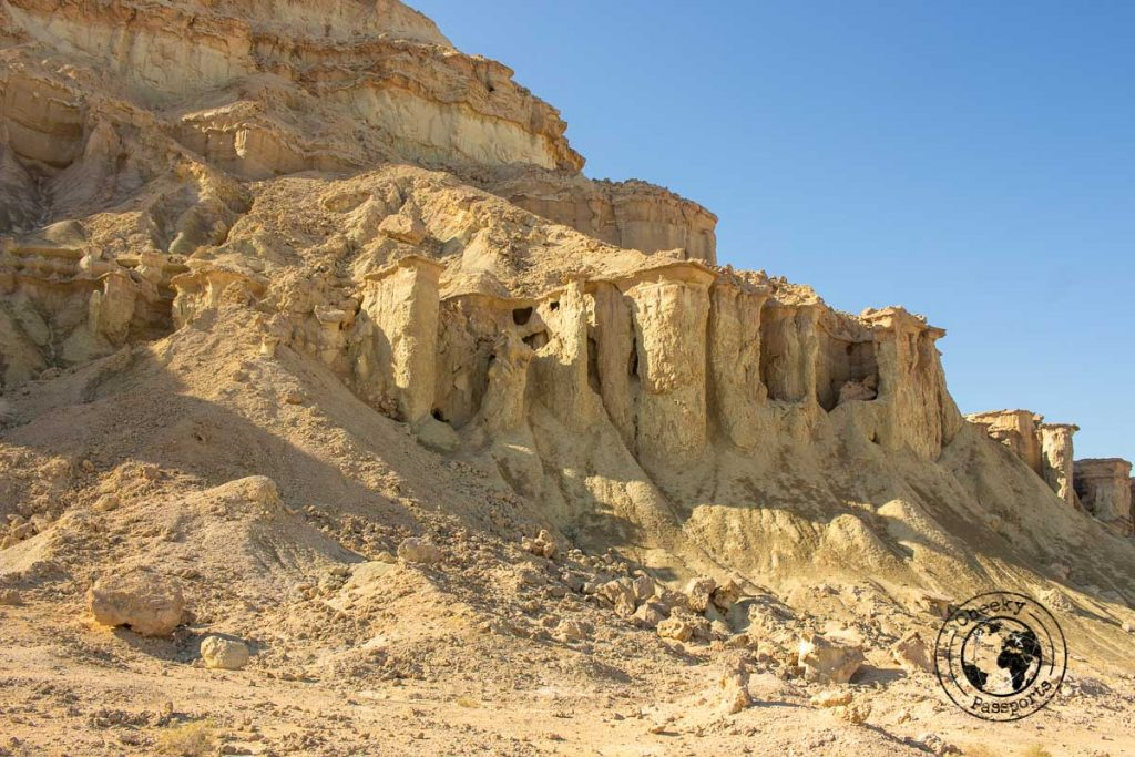 Valley of the statues during our Qeshm travel