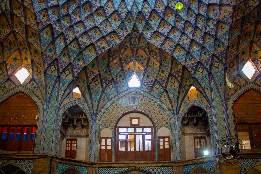 Bazaar roof in Kashan, Iran