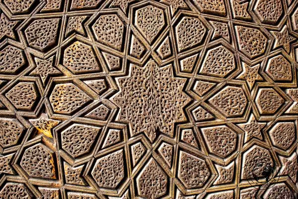 Decoration at the JAmeh Mosque in Yazd