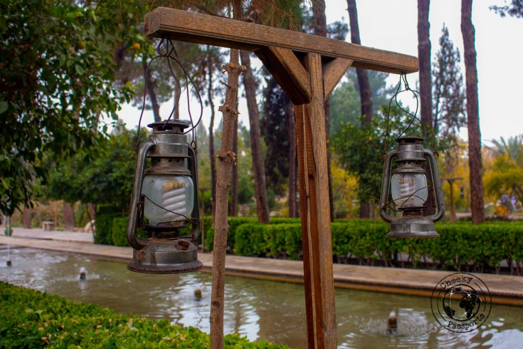 Decorations at the Dowlat Abad Gardens - things to do in Yazd