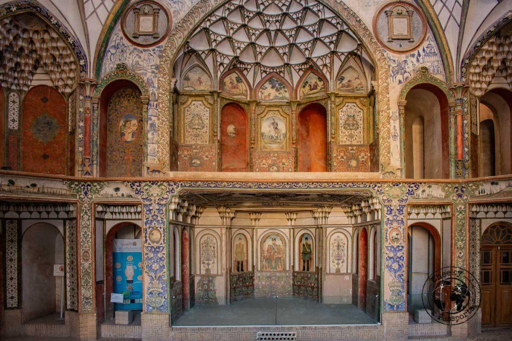 Decorations of the Boroujerdi house in kashan iran