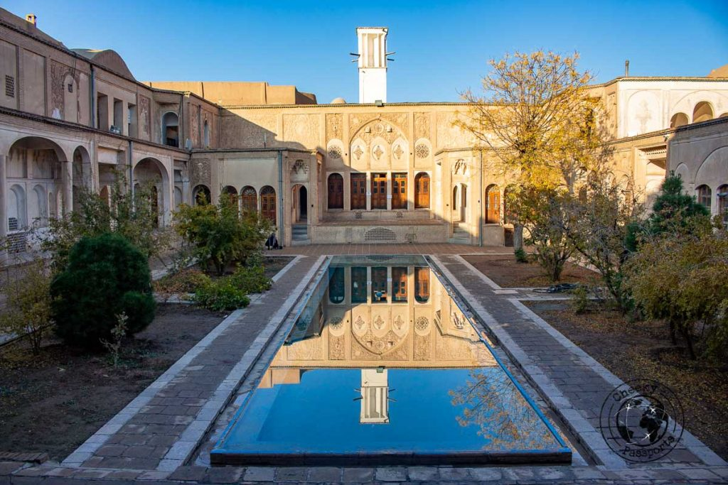 Inside the Boroujerdi house in kashan iran