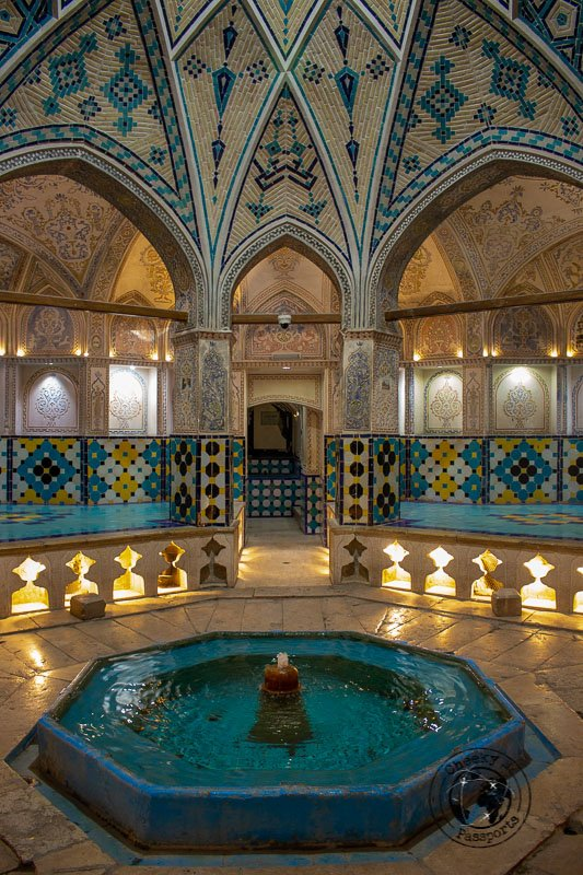 Inside the Hammam e Soltan Mir Ahmad in kashan iran