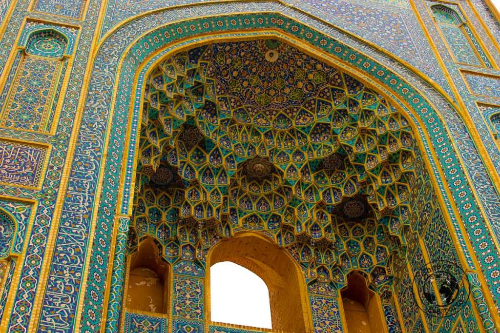 Intricate carving at the JAmeh Mosque - Things to do in Yazd