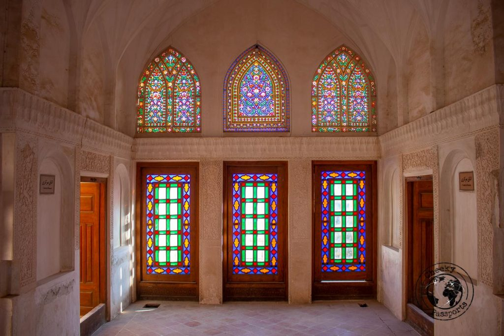 Stained windows of the Tabatabaie residence