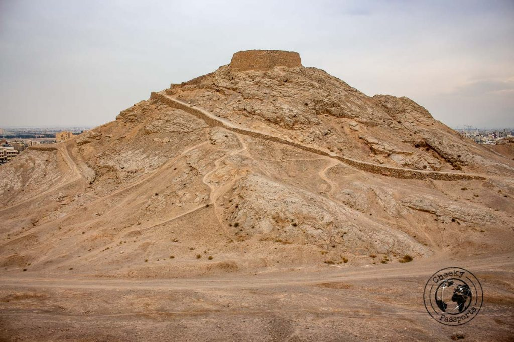 The second tower of silence in Yazd