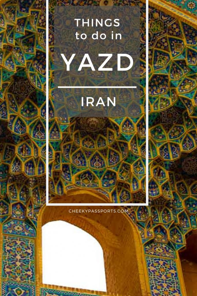 The desert city of Yazd is a popular destination in Iran known for its lovely badgirs and adobe houses. Here are the top things to do in Yazd. #iran #irantravel #iranissafe #toptouristattractions #tourism #travel #travelstoke #offthebeat #iran #attractions #worldheritage #kerman #unesco #worldheritage
