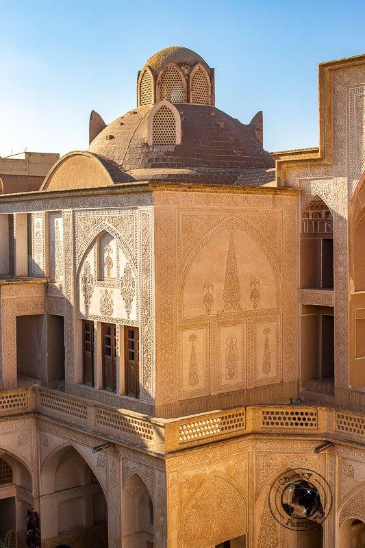 inside the Abbasian House in kashan