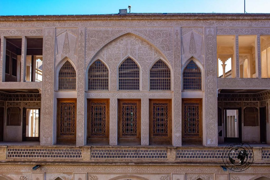 the facade of Abbasian House in kashan iran