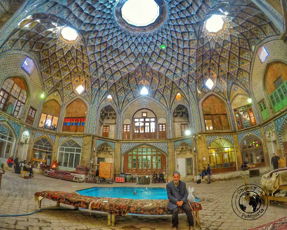 the mesmerizing architecture of the Kashan Bazaar