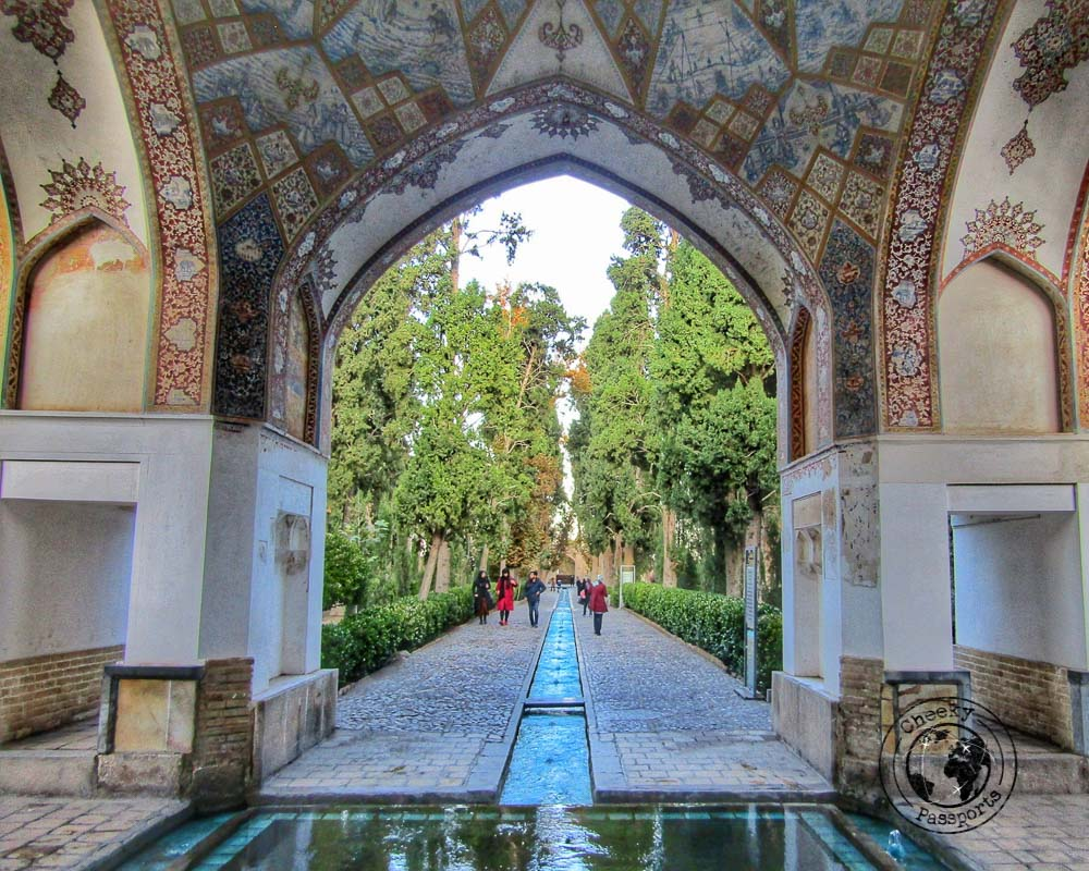 water features at the fin garden in Kashan